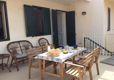 Casa Vacanze Appartamento Casasantabarbara Villetta Con Veranda Vista Mare